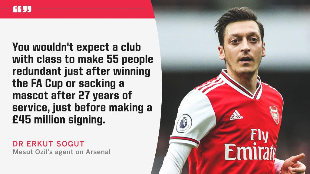 Mesut Ozil's agent didn't hold back when talking about Arsenal 💥 https://t.co/YiAM5B4kMO