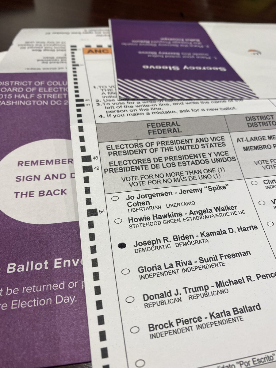 I just voted in a presidential election for the tenth time in my life. It's the first time I ever voted for the Democrat. https://t.co/E7l4Cfelpy