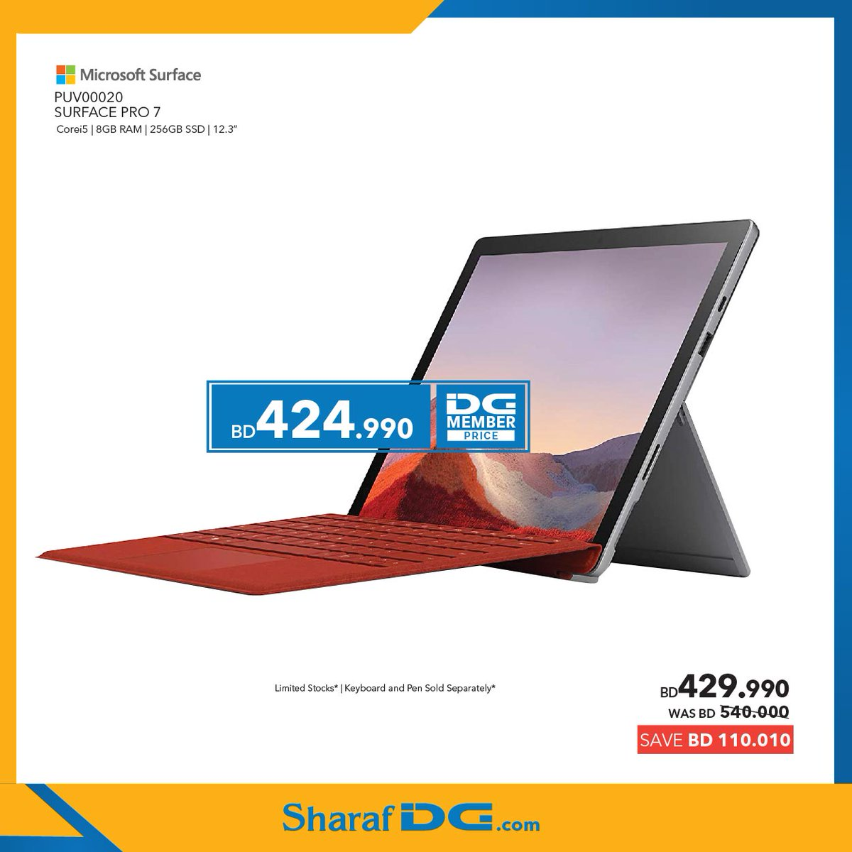 Buy Your New Surface Pro 7 @ Sharaf DG and Get Scratch & Win + Free vouchers with your Purchase. T&C apply* 🛒 Shop @ https://t.co/co2IruzwyB Promo valid till 4th Nov 2020 / Limited Stocks*  #bahrain #bahrain_offers #bahrainoffers #sharafdgbahrain #Surfacepro7 #MicrosoftSurface https://t.co/rVJhycNGuZ