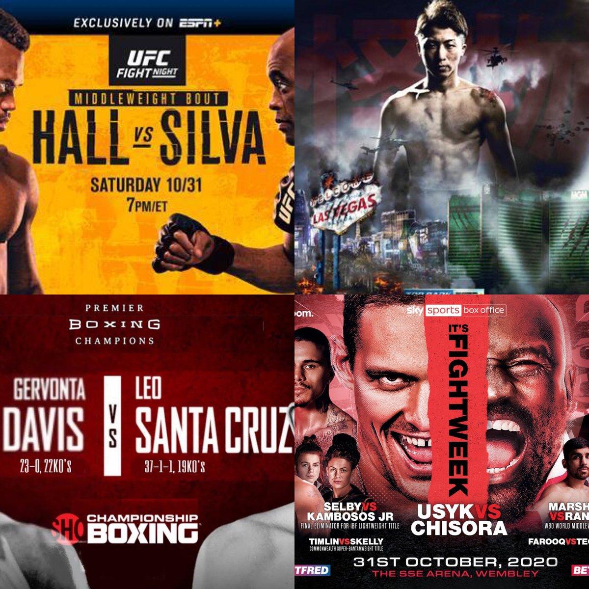 A lot to take in & watch on Saturday  🤯🤯🤯🤯#UsykChisora #UFCVegas11 #InoueMoloney #DavisSantaCruz #boxing #MMA https://t.co/yBju30DYfn