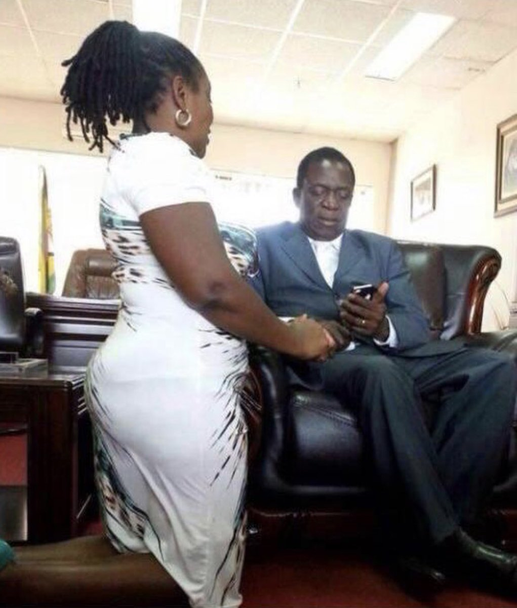 """Hopewell Chin'ono on Twitter: """"Henrietta Rushwaya who was caught with 6  kilograms of Gold at Harare International Airport, seen here kneeling  before Zimbabwe's President in a file photograph. She is a ZANUPF"""