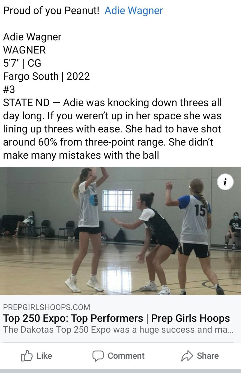 Proud of you @AdieWagner! @southbruins @nd_pro @FMFierce @FargoBasketball  #hardworkpaysoff https://t.co/G4OWIeQbSO