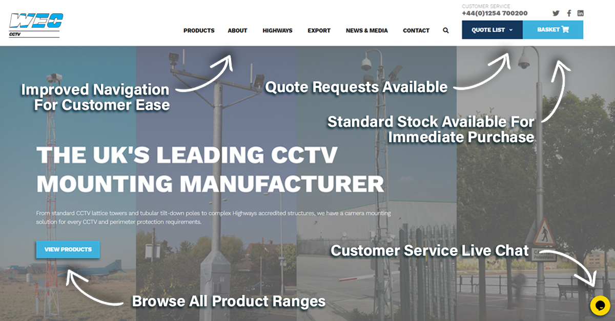 We are happy to announce that our specialist CCTV divison has officially launched their new website! The new site was built with customer experience and ease of use in mind and it now comes with e-commerce facilities.   https://t.co/JoPVM9uiH0  #cctvsolutions #newwebsite https://t.co/He3C6R6Ard