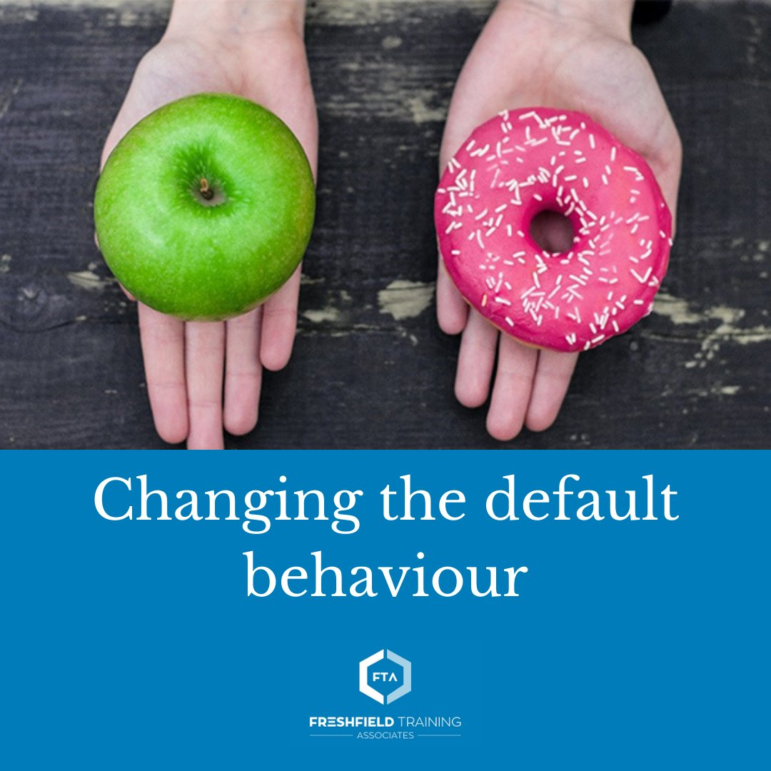 Many of our everyday choices are influenced by a 'default setting', which makes it easier to choose one thing over another. So how might we identify and switch default settings where we need to prompt a change in behaviour?  Read more: https://t.co/VXL1Sgzqbu https://t.co/PFAKQdEgpH