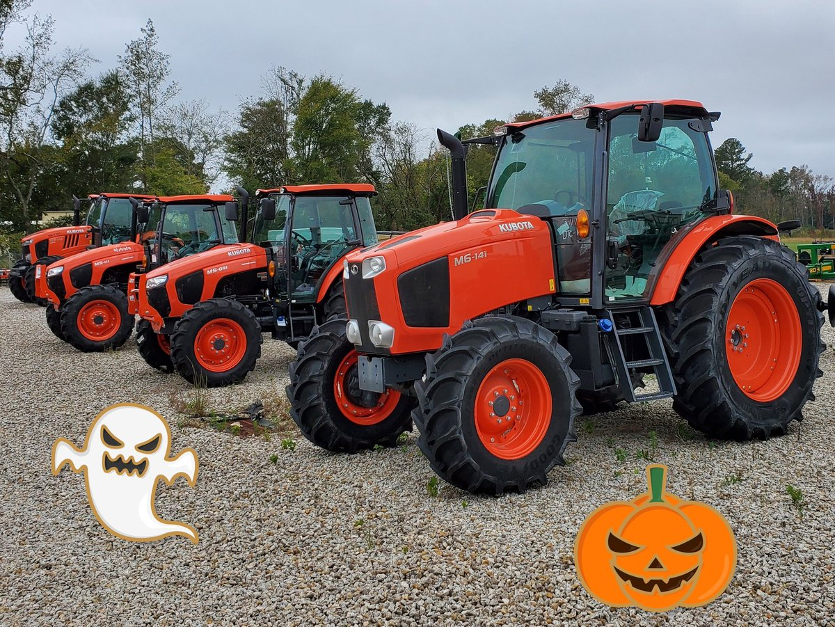 Seek shelter from the ghouls and goblins this Halloween with a cab tractor from Kubota! #cumberlandtractornc #kubota #kubotatractor #tractor #cabtractor #fayettevillenc https://t.co/P9FeMKCzCW