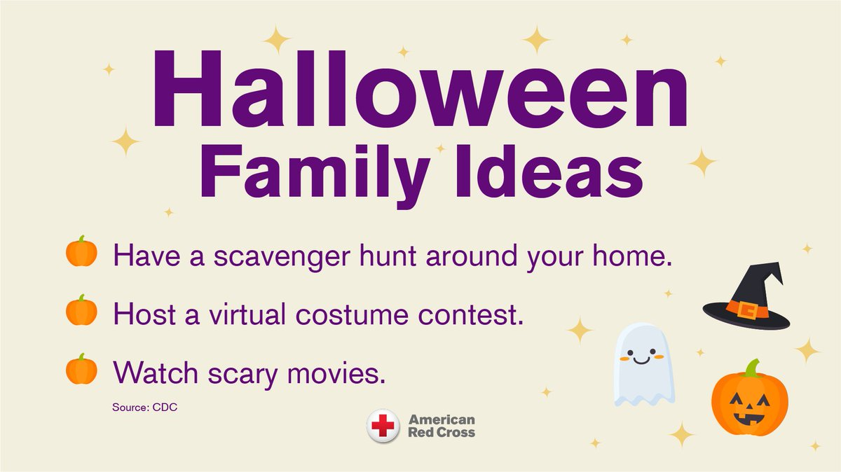 fema: RT @RedCross: Keep #Halloween spooky and safe by trying a low-risk #COVID19 activity with your family. https://t.co/7ZVoeEbqiX #NationalPumpkinDay https://t.co/b72xlZwGeD