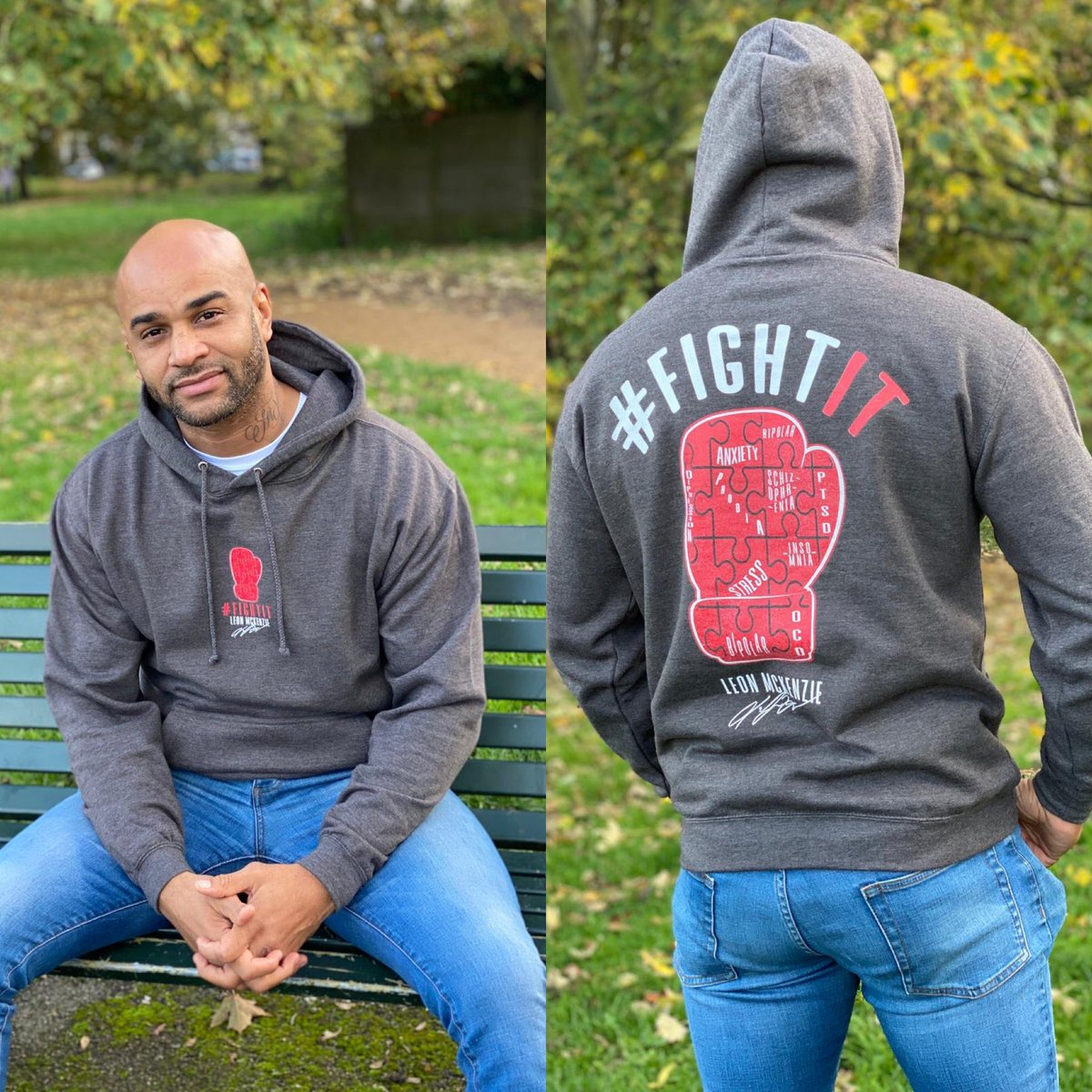 We are so excited to be working with @LeonMckenzie1 in helping him to promote mental health through his fight it brand 👊🏼 keep your eyes peeled these will be on sale from Wednesday 🙌🏼   #MondayMotivation #MentalHealthAwareness #fightit #merchonline #iconsonly https://t.co/2NzENulVLH