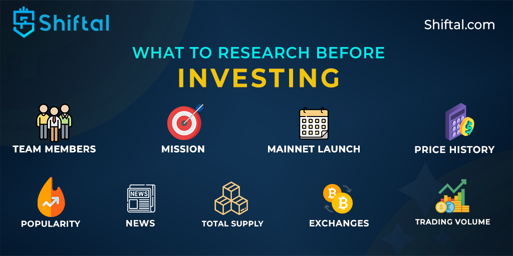 One should research properly before investing in anything. Thorough research is important to get the best ROI.    You have any questions?   Visit our website: https://t.co/yAgVVDjGOa  #shiftal #investing #researchwork #rnd #team #teammembers #pricehistory #mission #exchanges https://t.co/Qkcmu3Mmvq