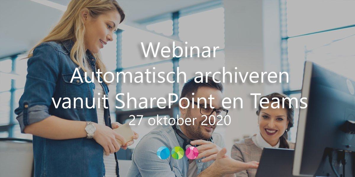 Morgen houden wij een webinar over hoe eenvoudig archiefwaardige informatie uit samenwerkingsplatforms zoals Teams en SharePoint kan worden vastgelegd in een dms/rma. Schrijf je snel in! #duurzaamarchiveren #corsa https://t.co/nFCejCaY7S https://t.co/mL70OZdBvd