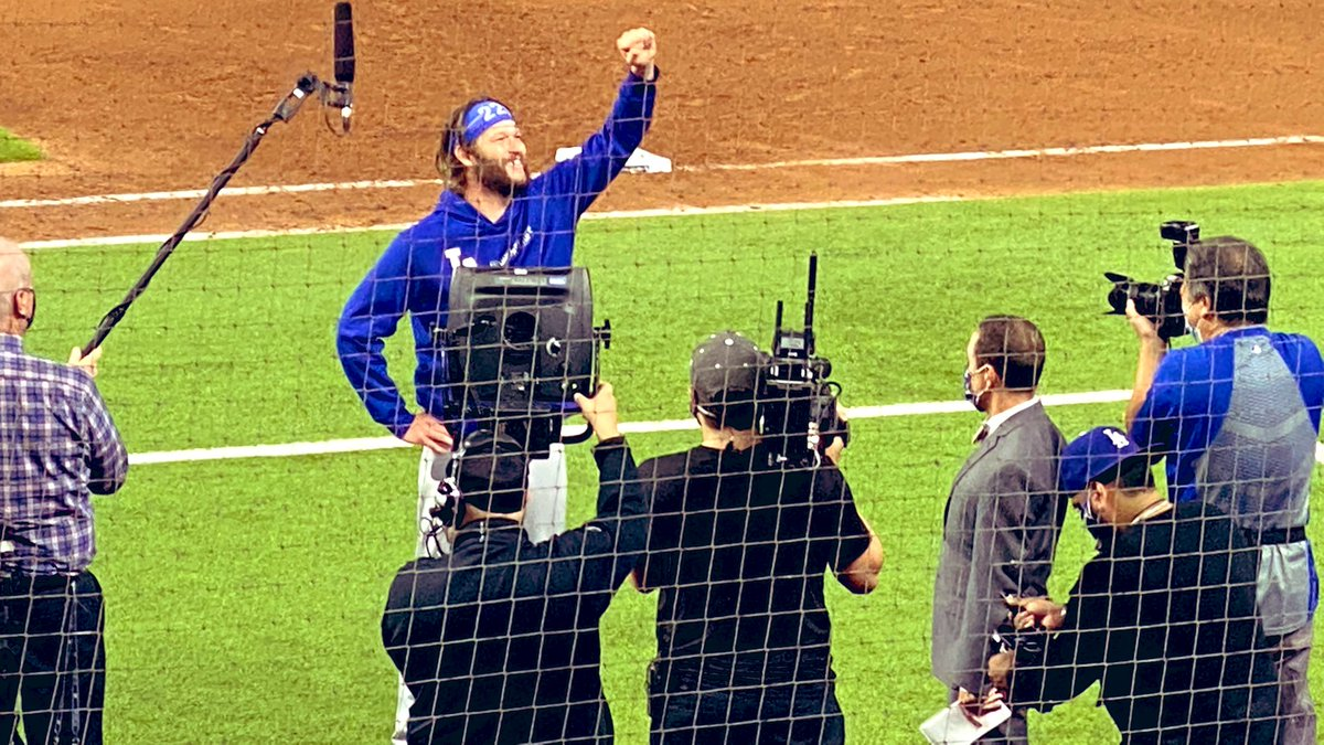 One. More. Game. And @ClaytonKersh22 now has the most strikeouts (206) in #MLB post-season history. Let's win this, #Dodgers! #WorldSeries