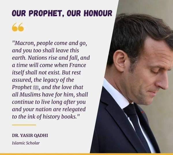 "परवेज़ M on Twitter: ""Insult Prophet Muhammad: ""Freedom of Speech"". Insult  President Macron: ""Serious! Unprofessional! Mean!"" #ProphetMuhammadSAW # Macron #Islamophobia… https://t.co/UrtkLe0mZT"""