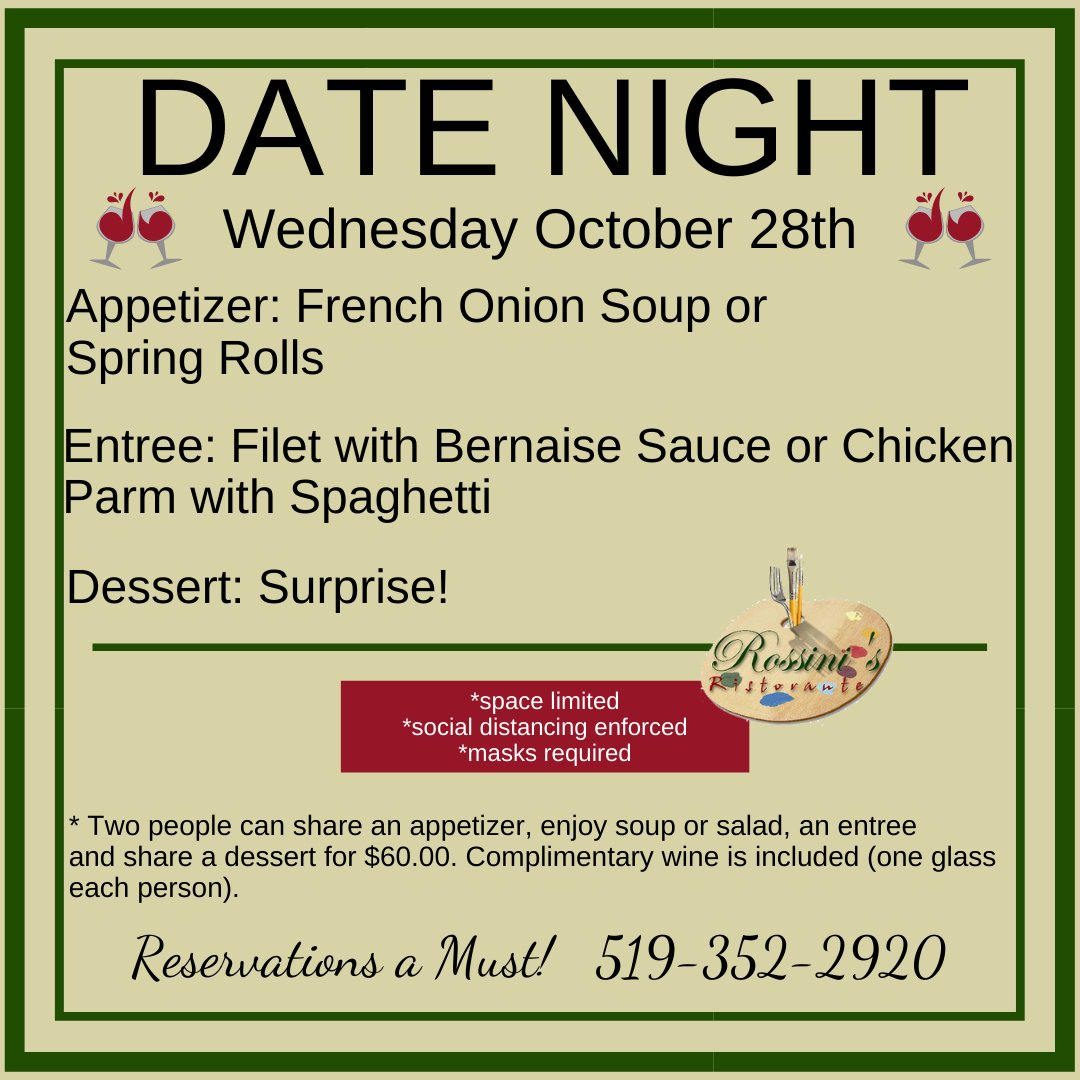 Here is this week's Date Night Menu! #ckont Heavy check mark Reservations Required Heavy check mark Space limited due to social distancing restrictions https://t.co/mEZBHB7JS7