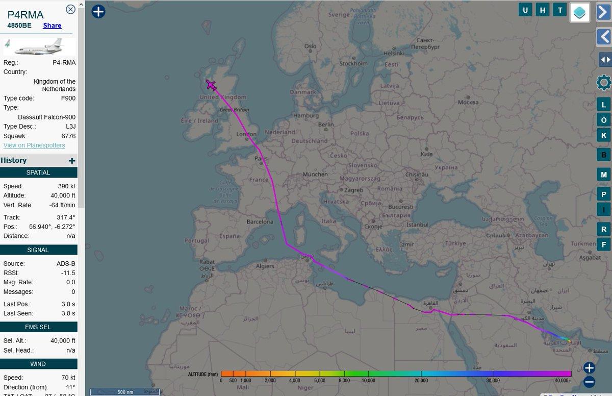 #KhalifaHaftar's #P4RMA leaves #UK's airspace originating from #Emirates. Heading to Washington?   (11:40 UTC 26Oct2020) #Libya #Libyaoil #OilAndGas #LAAF #Haftar #ليبيا #حفتر https://t.co/1TZVVHkdcE https://t.co/Nsweukfc9f