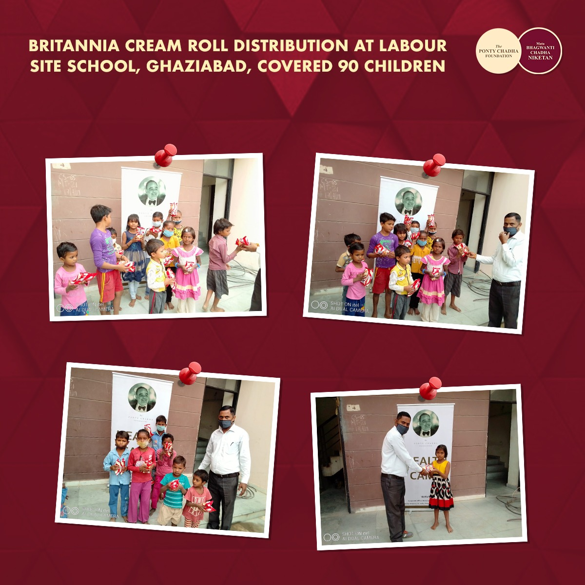 #spreadsmiles One of the best things in life is to be a cause of someone's smile. As a token of care, we distributed Britannia cream roll at labour site school,Ghaziabad on 22nd Oct,covered 90 children #kindnessmatters #happiness #smile #giveothers #givingback  #mondaymotivation https://t.co/m1I6A2UPDj