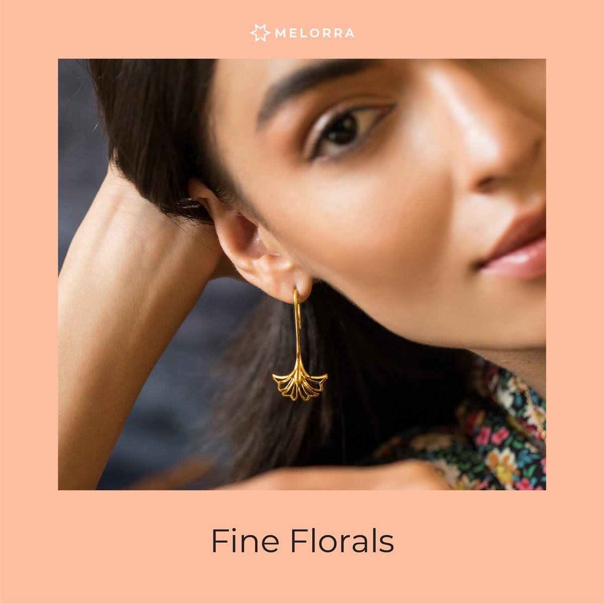 Florals are BIG this season. And, while it may be a bit too soon to pull out your heavy-duty woollens, these lightweight floral pieces are perfect for the current season style-relief. 🌟 Shop Now >   #Melorra #ArtOf24X7Fashion #FineJewellery #WomenFashion