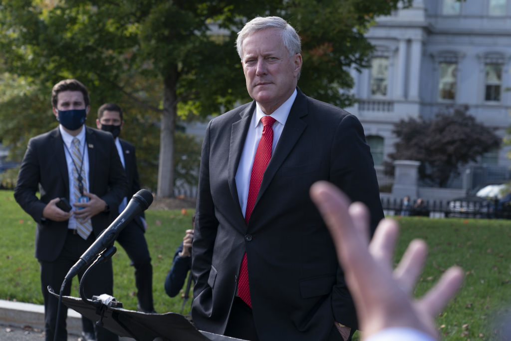 "Mark Meadows says the U.S. is ""not going to control"" the pandemic — even as he defended the administration's response to the coronavirus after a second wave of infections in the White House hit close aides to Vice President Mike Pence https://t.co/zX1XfE8Hta https://t.co/R1ltlwufO5"