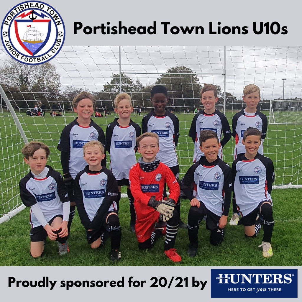 Shout out to @PTFC_Youth Lions U10s. Here they are looking ready for business in their new kit kindly sponsored by Hunters Estate Agents. Have a fantastic season lads ⚽️⚪️⚫️ #PTFC #grassrootsfootball  @HuntersHomes @KarutaSports https://t.co/WNf3PtNgV9
