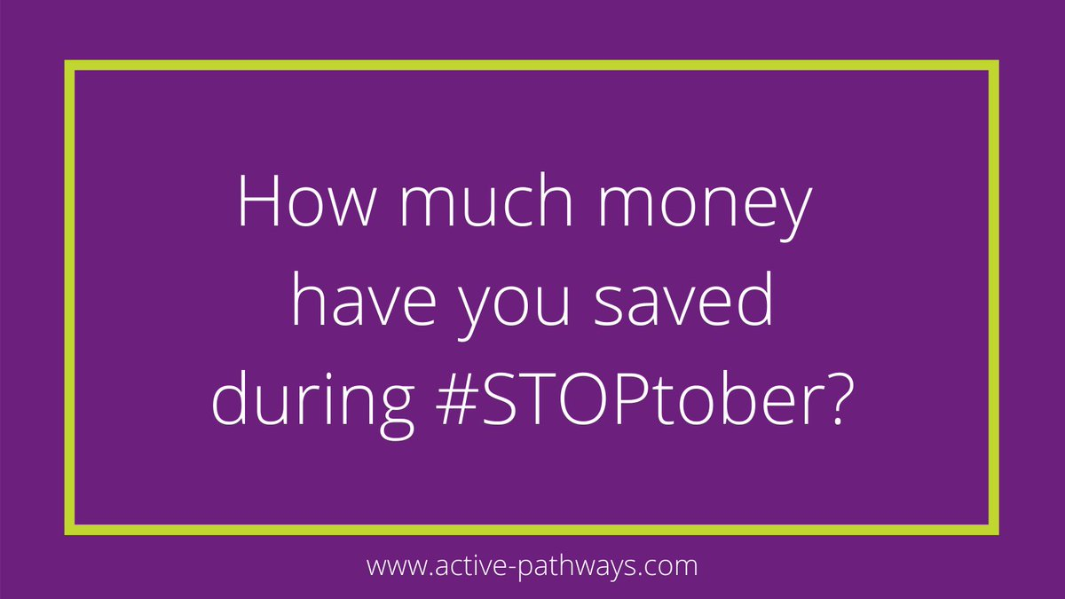 We're in the last week of the month. Have you noticed how much money you've saved during #STOPtober?