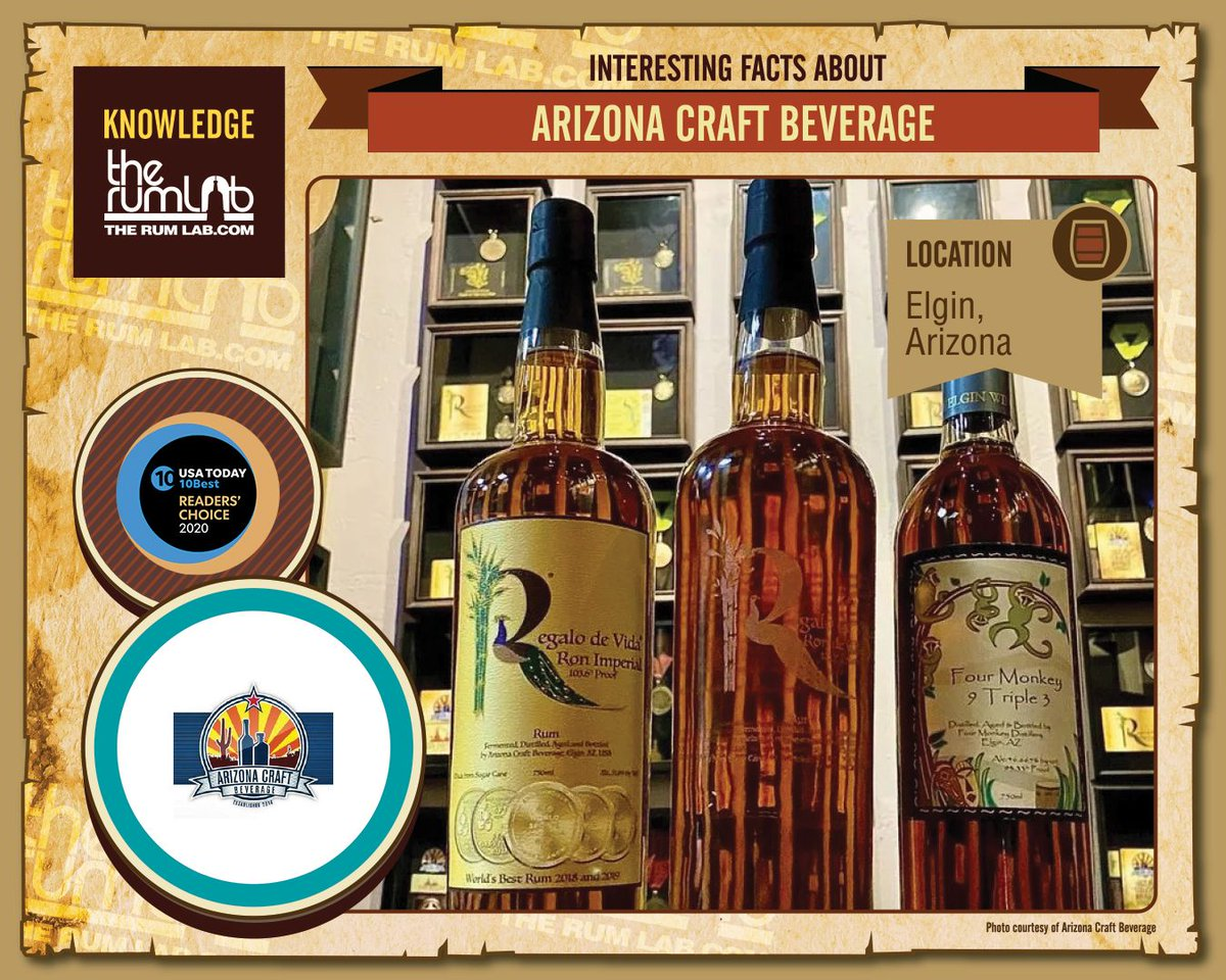 THE BEST CRAFT RUM DISTILLERIES THAT MAKE AMAZING RUMS:  #4 ARIZONA CRAFT BEVERAGE | ELGIN, ARIZONA Read the full article at: https://t.co/BC3He3e6mn #knowlegde #Connoisseur #LiquidGold #Sugarcane #BrandAmbassador #Ron #Rum #TheRumlab #Distilleries #Arizona #ArizonaCraftBeverage https://t.co/EV3b8WqlxF