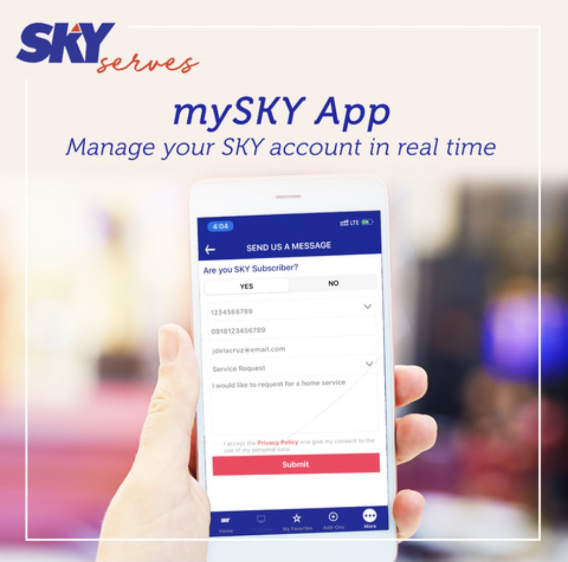 Sky On Twitter Sky Is Just A Few Phone Taps Away You Can Reach Us Using Your Mobile Phone Through The Following Web Contact Form Visit Https T Co Ws5zerivky Mysky App Download