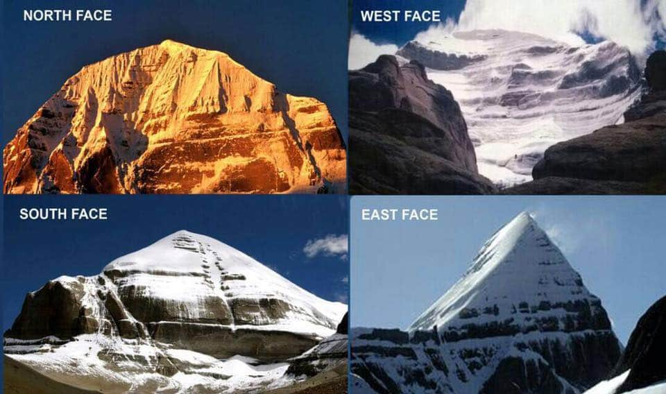 The four sides of the Mount Kailash are made of four different precious substance.  The East of Crystal, West of Ruby, North is Gold  &  South of Lapis Lazuli.  On the four side of the Mount Meru are four great mountains- Mandara,Meru Mandara,Suparsva & kumuda. https://t.co/ZCoDjyLsKh