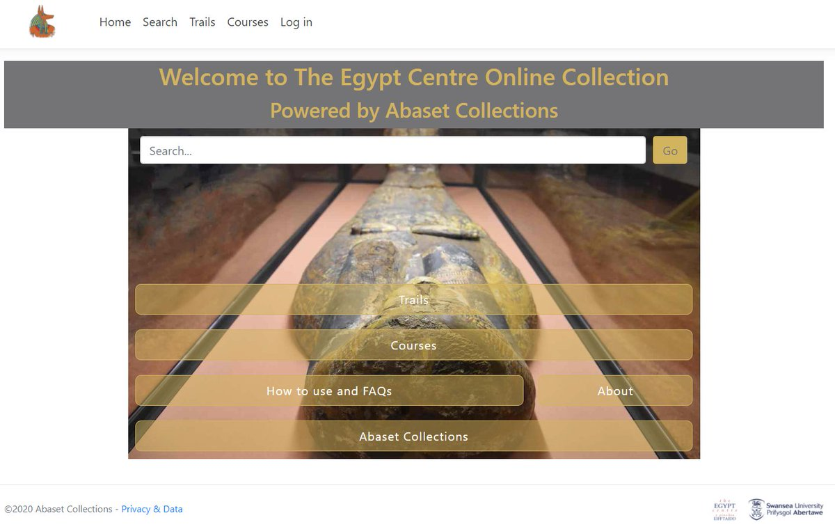 New @TheEgyptCentre blog outlining the recent launch of our new online collections catalogue, a bespoke platform created by @Abaset_Colls. We are grateful to @Swansea_Alumni for funding this project through their Greatest Need appeal. Feedback welcomed!  https://t.co/Lp9k3OINEG https://t.co/VMLgbCf5VQ