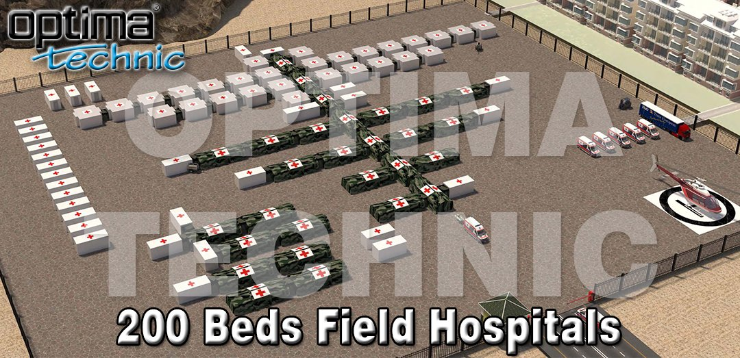 Optima Technic designing and manufacturing Trailer & Ground Based Field Hospitals. Capacities can be with 10 beds, 50 beds, 100 beds, 200 beds or more. All containers and inflatable tents are produced as hospital standards. #optimatechnic #mobilehospitals #fieldhospitals https://t.co/Qm2ViTuZmo