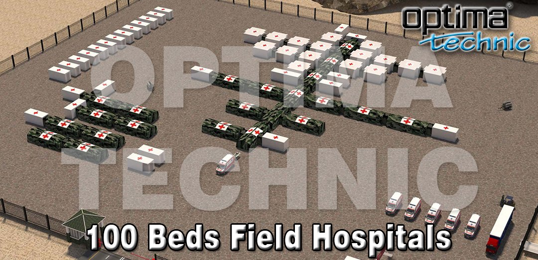 Optima Technic designing and manufacturing Trailer & Ground Based Field Hospitals. Capacities can be with 10 beds, 50 beds, 100 beds, 200 beds or more. All containers and inflatable tents are produced as hospital standards.  #optimatechnic #mobilehospitals #fieldhospitals https://t.co/UBpP51C6h4
