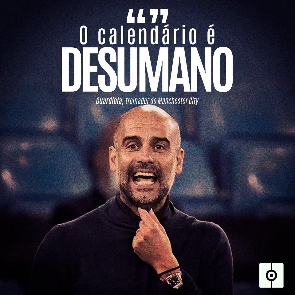 Guardiola volta a se queixar do calendário: https://t.co/bUDSVyLcjj  #Guardiola #ManchesterCity #Premier https://t.co/PImBnQYJ67