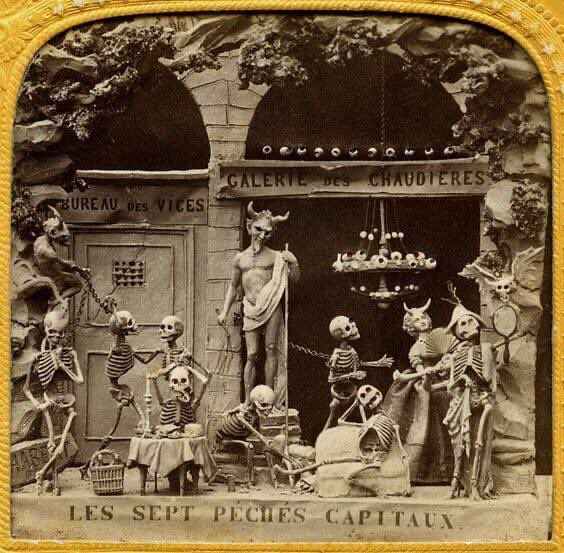 Much of the subject matter was satirical and mirrored the corruption and excess of Paris during the Second Empire. Napoleon III's authoritarian rule was repeatedly the subject of criticism, as was the decadent lifestyle of the bourgeoisie. (Books,mon amour) 2/4 https://t.co/GgbzXYRMvA