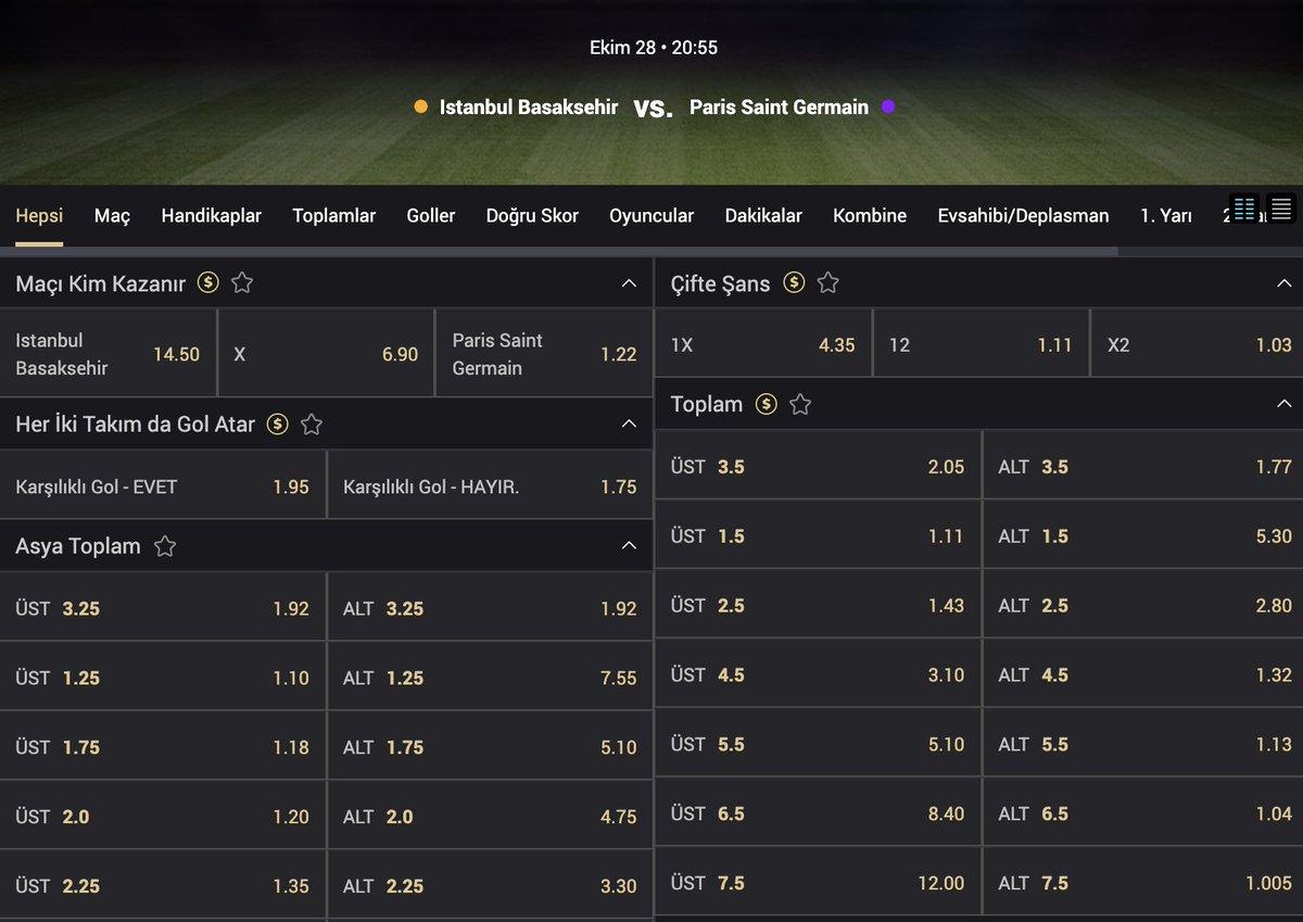 Temsilcimiz Başakşehir çarşamba günü şampiyonlar ligi grup mücadelesinde ikinci maçına çıkıyor.  ⚽️Başakşehir - Paris Saint Germain ⏰20:55  Akcebet güncel giriş: https://t.co/9packC9dRw  #akcebet #tipobet #melbet https://t.co/vhTqMhCCan