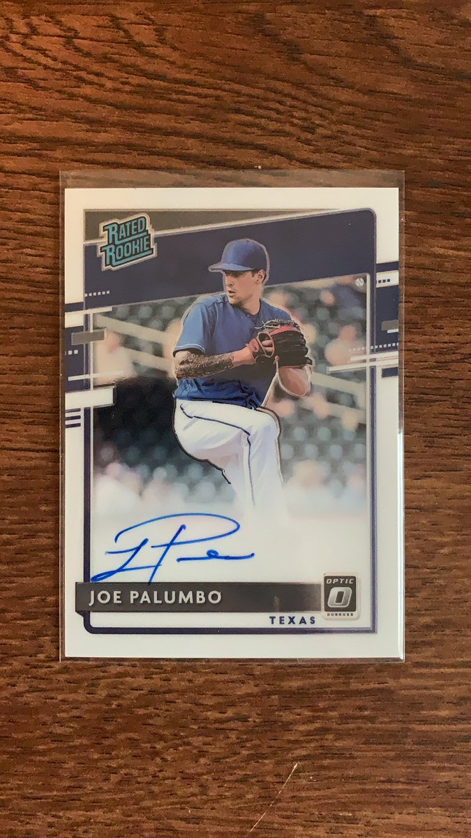GIVEAWAY TIME!  To enter: 1. RETWEET 2. Tag a friend in the comments 3. Must be following to win  Wednesday I will pick a winner of this Donruss Optic Joe Palumbo RC Auto. Check out my eBay store below to see all the new cards I've listed for sale  👇🏼  https://t.co/TTDuOzfiYY https://t.co/evbWPCrVZ4
