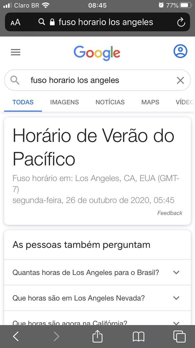 em los angeles são 5:45 da manhã e a diferença de horas daqui do brasil é duas/ três (depende de que região do brasil você vive) https://t.co/IYtWJbS86n