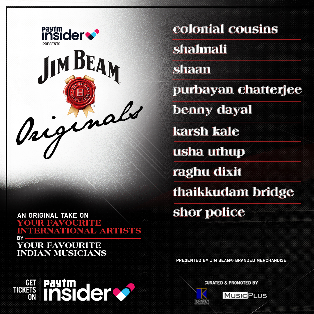 Paytm Insider presents Jim Beam Originals, live #music gigs featuring your all-time favourite hits & only the country's finest musicians playing it out loud. Also, you have a chance to buy the season pass for all 10 shows at just Rs1500! @JimBeamIndia Tix: https://t.co/ATZVi4OOLt https://t.co/vxJ0q2B9TQ