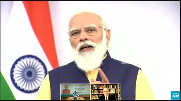 """""""India aims to ensure energy justice while fully following our global commitments for sustainable growth. This means more energy to improve the life of Indians with a smaller carbon footprint"""" - Hon'ble PM @narendramodi at the #IndiaEnergyForum2020 #PMAtCeraWeek #CERAWeek https://t.co/APO8cdIHmH"""