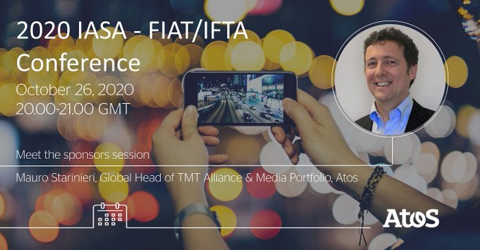 #AtosMedia We are excited to sponsor the IASA - FIAT/IFTA Joint Conference. Meet @maurostarinie...