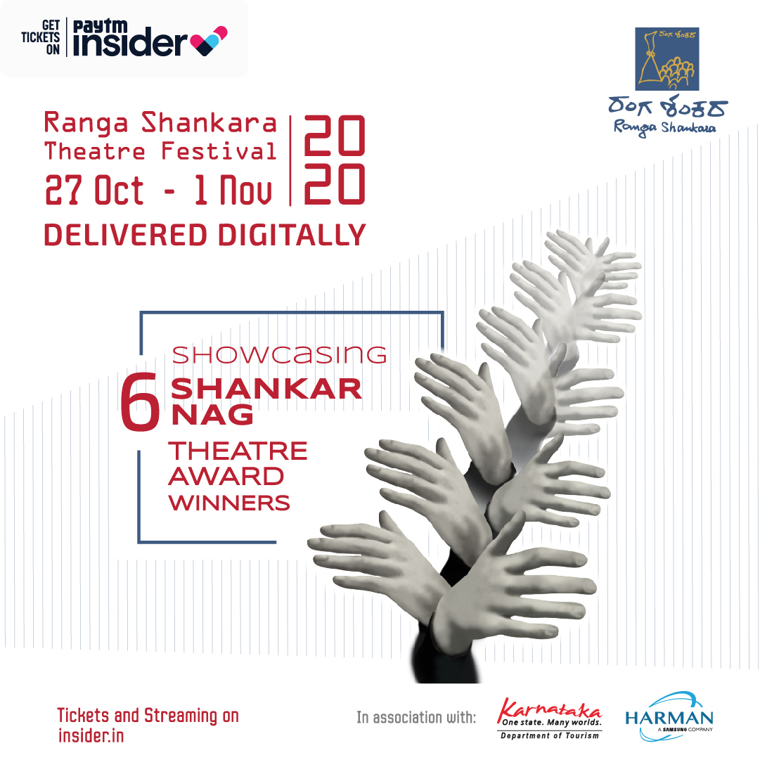The @rangashankara Theatre Festival showcases the works of the 6 Shankar Nag Theatre Award winners, while celebrating a huge first - going digital! Watch an exciting line-up of plays online or enjoy a screening at Ranga Shankara. Tickets: https://t.co/tqHUjd0o3S https://t.co/3sJ32cn1DV