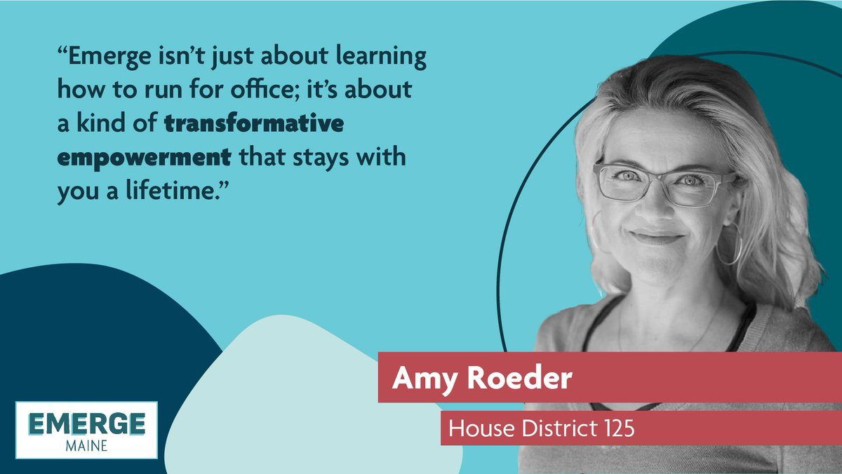"""""""Emerge isn't just about learning how to run for office; it's about a kind of transformative empowerment that stays with you a lifetime."""" -Amy Roeder  #transformation #sheshouldrun #emergemaine #EmpowerWomen https://t.co/YU8LFfcE9y"""