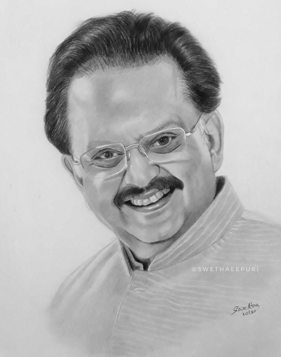 Never the day has gone without listening to your marvelous songs🎵 Pencil drawing #SPBalasubrahmanyam #SPbalasubramanyam #SPB https://t.co/dvvKBZlx0Z