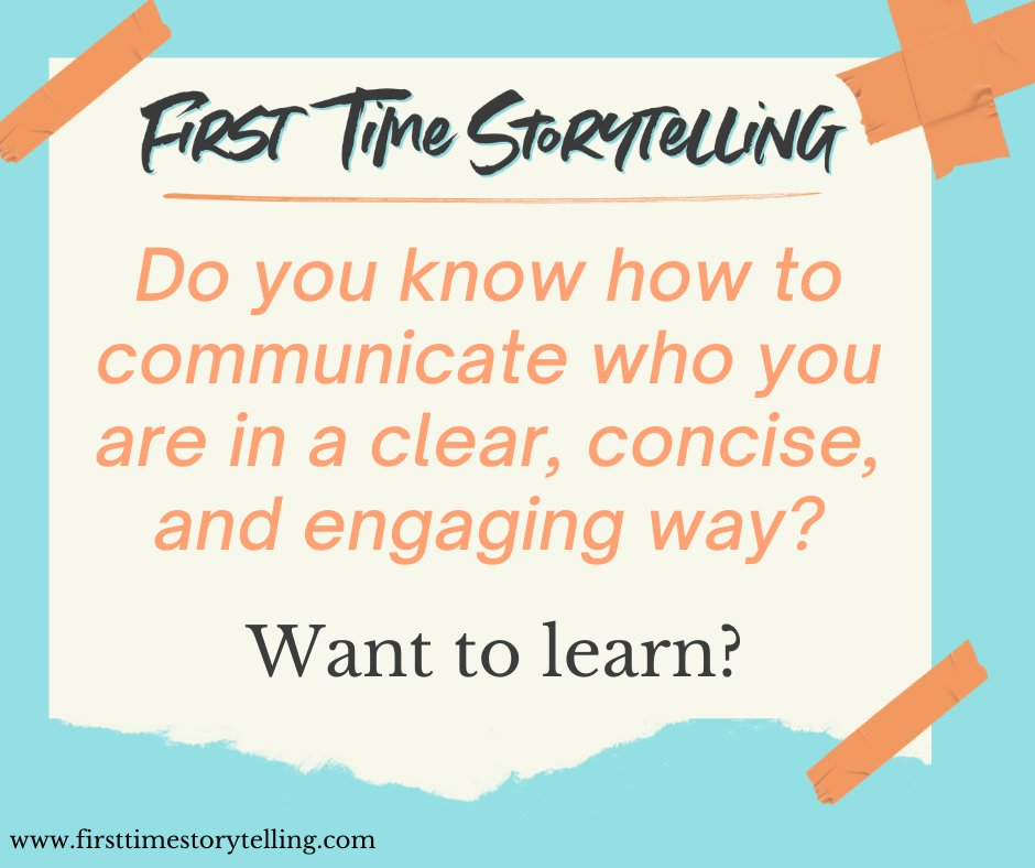 We are taught to speak. We are not taught to communicate and express who we are.   Once we learn to speak, we start to express ourselves, and from there many different things start happening.   #communicate #expressyourself #firsttimestorytelling https://t.co/qquFbQh15V