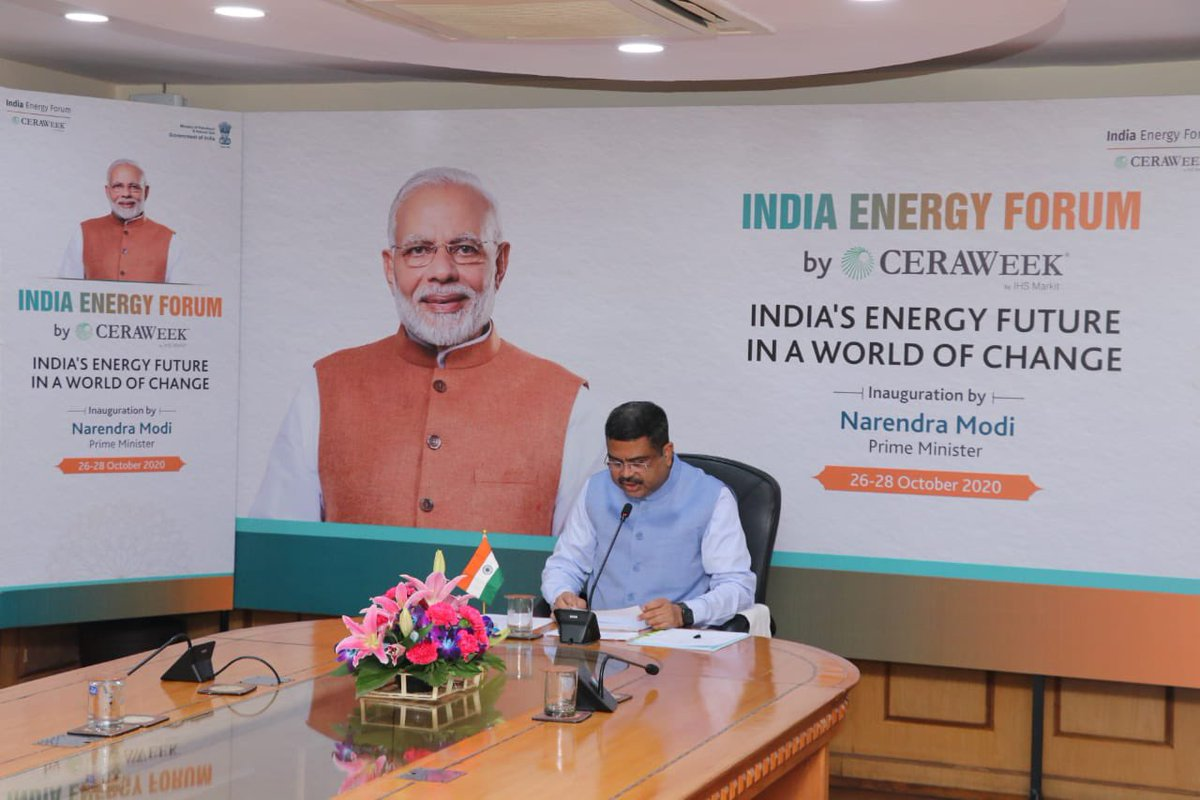 The COVID-19 pandemic has impacted the global economy profoundly. It has also created a unique opportunity to build back better. Our energy agenda in India is inclusive, market based, and climate-sensitive.  #PMAtCeraWeek   #IndiaEnergyForum  #CERAWeek https://t.co/TiWQKJrlYG