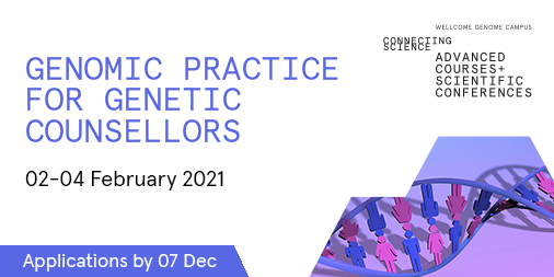APPLICATIONS OPEN: We are now accepting your applications for Genomic Practice for Genetic Counsellors 2021. Next year's course will focus on the practical applications of genomics with several 'hands-on' workshop sessions.   📩Apply by 07 Dec: https://t.co/dRiSb2wUhL #GPGC21 https://t.co/E106DAKGO2