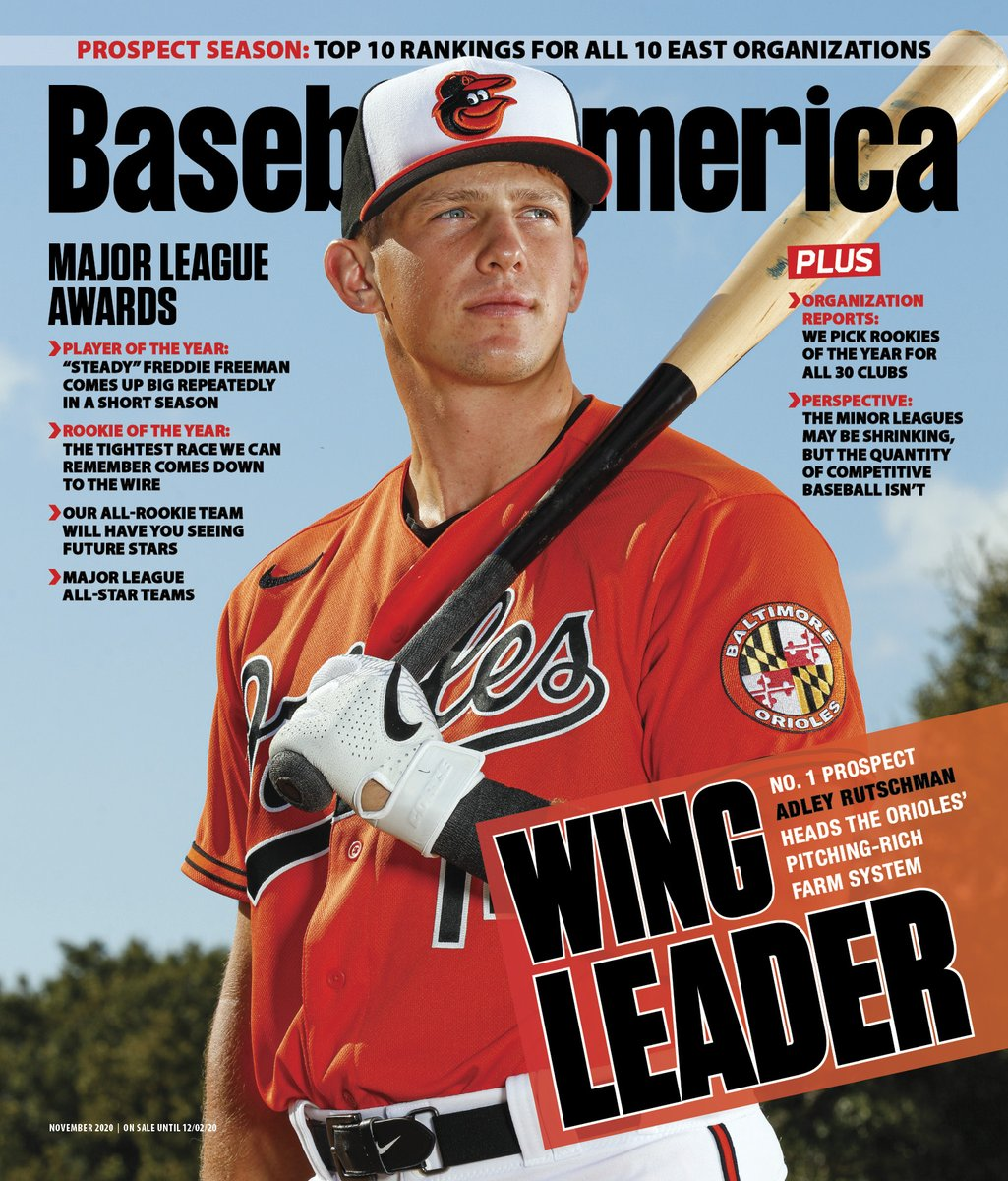 New cover athlete 😎  @Orioles top prospect Adley Rutschman returns to the cover of Baseball America, this time for our November issue.   Subscribers who have the app get early access 👀  Download here: https://t.co/OkJBVSo5wS https://t.co/5kOjS9LXMj
