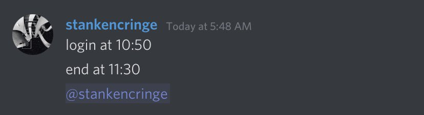 holiday - Doug be sending reminders to himself on discord 😭💀