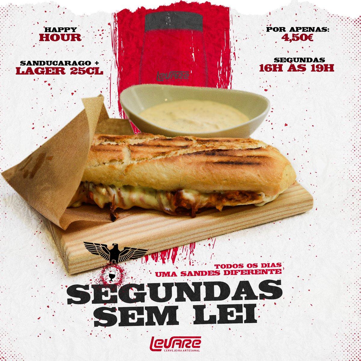 Não faltes à sessão a partir das 16h! 🎥  Não são pipocas, mas SanDuCarago!  #cervejalevare #levare #cervejaria #cervejaartesanal #lager #tapas #tapasporto #porto #portoportugal https://t.co/7wL2MqlBnA
