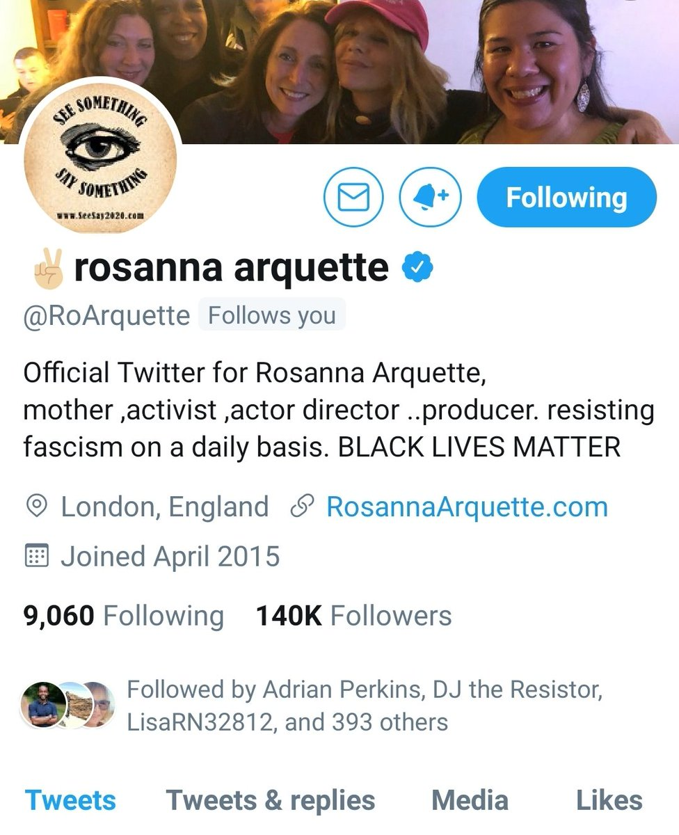 Omg @RoArquette is following me!! Yay! Happy Monday to me.