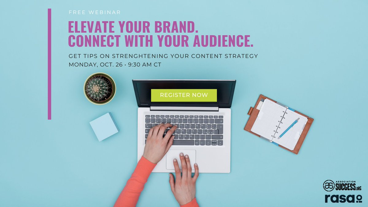 🗣️ Last chance to register for our webinar on content curation tips that will help you save time and connect with your audience!  Register now! There are still a few spots left! https://t.co/yo3NCz2YTA  #assnchat #asae #contentmarketing #contentcreators https://t.co/CqwNXZQihv