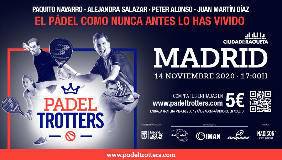 ¡El mayor show sobre una pista de pádel vuelve a Madrid! 🎾🙌  ¡Los @PadelTrotters regresan el 14 de noviembre en la @ciudadraqueta con @paquito_navarro @peteralonsomar  @AleeeeSalazar y @JuanMartin_Diaz  para hacer vibrar a todos los aficionados del pádel! 😎 https://t.co/TPhRZoNcww