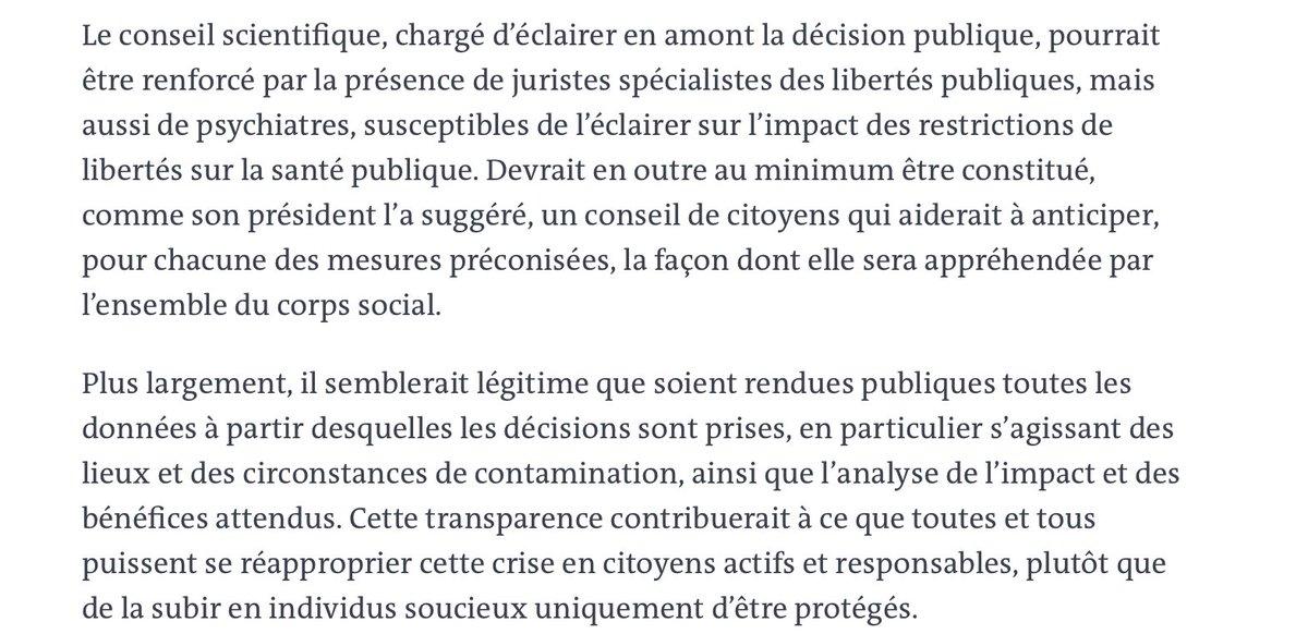 Claire Hédon à propos du conseil scientifique dont les pouvoirs sont à la mesure de l'inexistence du politique : https://t.co/z4B8ahoF9G
