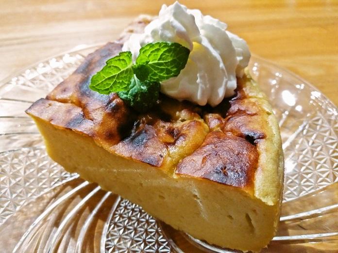 さつまいもプリンケーキ作りました!焼いてるとき良い匂いがしました#ククれぽミキサーde簡単♡さつまいもプリンケーキ